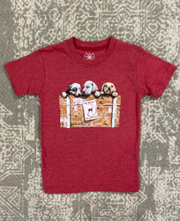 Wes & Willy Red Puppies S/S Tee