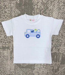 Lily Pads White Easter Egg Truck Applique Tee