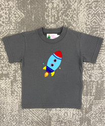 Lily Pads Charcoal Rocket Applique Tee