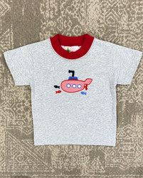 Lily Pads Heather Gray Submarine Applique Tee