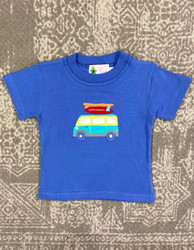 Lily Pads Dark Chambray Surfing Van Applique Tee