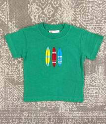 Lily Pads Green Three Surfboards Applique Tee