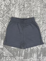 Lily Pads Charcoal Plain Short