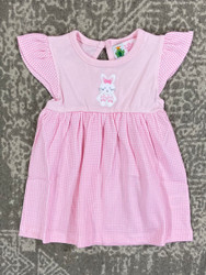 Lily Pads Pink Gingham Bunny Applique Dress