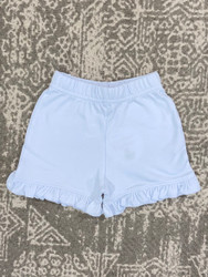 Lily Pads Baby Blue Ruffle Shorts