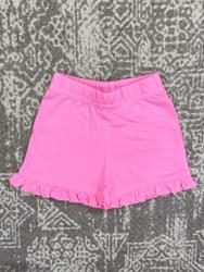 Lily Pads Bubblegum Ruffle Shorts