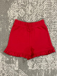 Lily Pads Red Ruffle Shorts