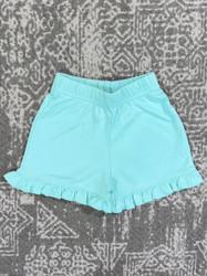 Lily Pads Jade Ruffle Shorts