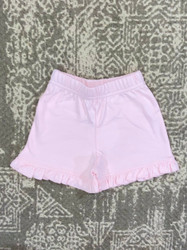 Lily Pads Baby Pink Ruffle Shorts
