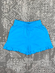 Lily Pads Turquoise Ruffle Shorts