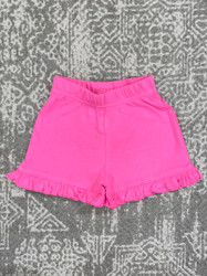 Lily Pads Hot Pink Ruffle Shorts