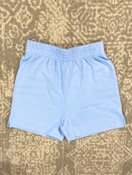 Lily Pads Sky Blue Plain Short