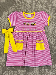 Squiggles Busy Bees Popover Dress