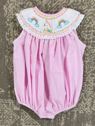 Le Za Me Unicorn/Rainbow Smocked Bubble