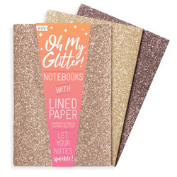 Oh My Glitter! Notebooks Gold & Bronze 3 pk
