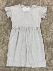 AC 407 Grey/Ivory Stripe Rib Dress