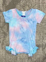 AC 407 Pink/Blue Tie Dye Ruffle SideTunic