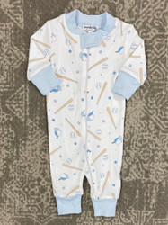 Magnolia Baby Blue Little Star Zipper Pajama