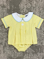 True Yellow Gingham Tab Bloomer Set