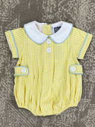 True Yellow Gingham Tab Bubble