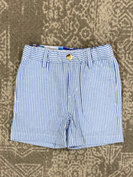 J Bailey Sailor Blue Stripe Seersucker Short