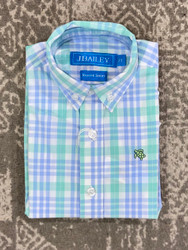 J Bailey Watercolor Plaid Button Down