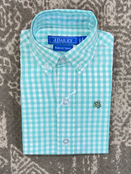 J Bailey Mint Gingham Button Down