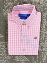 J Bailey Pink Gingham Button Down