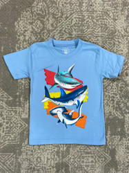 Wes & Willy Blue Sharks S/S Tee