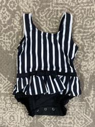 Ruffle Butts Black & White Skirted 1 PC Swimsuit