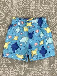 Ruffle Butts Starfish & Stingray Swim Trunks