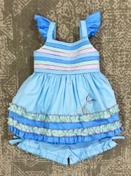 Evies Closet Mermaid & Pintucks Tunic Set