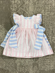 Sophie & Lucas Pink Stripe Dress with Bows