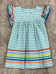 Banana Split Mint Stripe Knit Ric Rac Dress