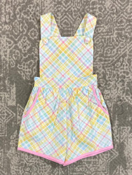 Banana Split Easter Plaid Kate Romper