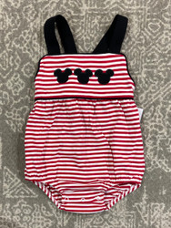 Three Sisters Baby Mouse Ears Boys Sunsuit