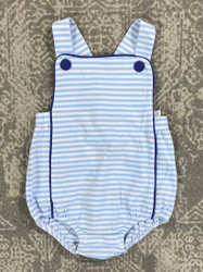 Three Sisters Baby Light Blue Stripe Isaac Sunsuit