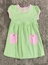 Ishtex Green Stripe Empire Dress