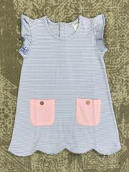 Ishtex Blue Stripe A-Line Dress
