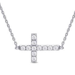 Lily Nily Sideways Cross Necklace