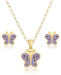 Lily Nily Butterfly Necklace/Earrings Set
