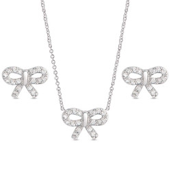 Lily Nily Bow Necklace/Earrings Set