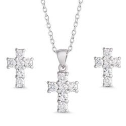 Lily Nily Cross Necklace/Earrings Set