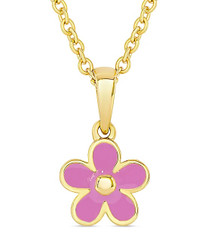Lily Nily Pink Flower Necklace
