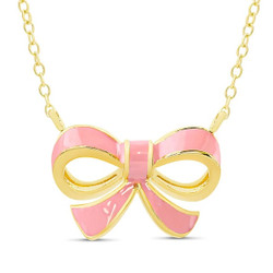 Lily Nily Pink Bow Neckalce