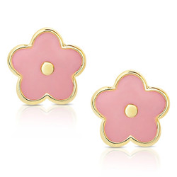Lily Nily Pink Flower Earrings