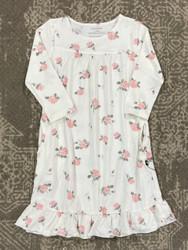 Sweet Bamboo White Roses Boho Gown