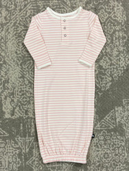 Sweet Bamboo Pink/White Stripe Gown