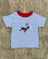 Claire & Charlie Airplane Applique Tee