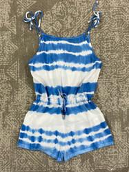Vintage Havana Blue Tie Dye Romper